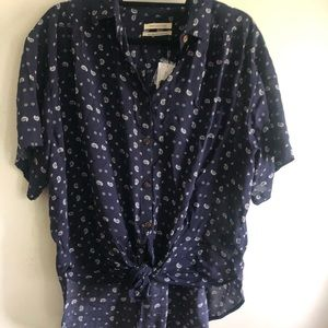 Urban Outfitters Blue Shirt